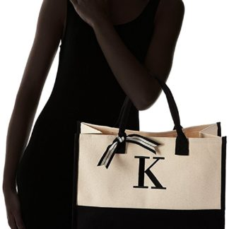 canvas tote with name initials