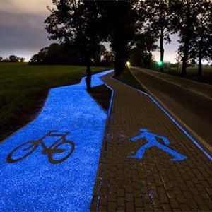 glow in dark stones used on paths