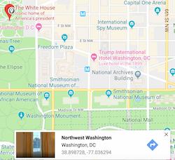 google maps white house gps coordinates
