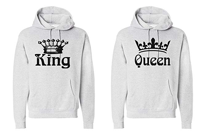 his and hers king and queen hoodies