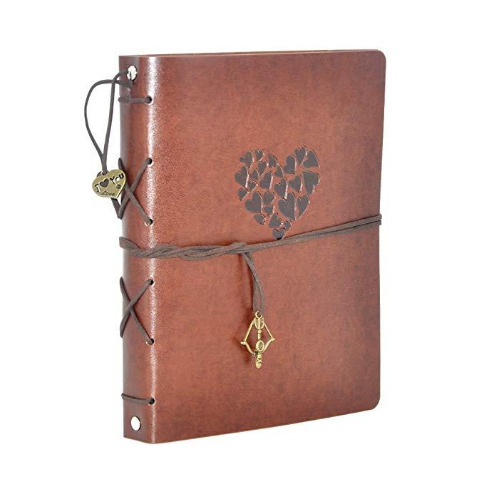 leather scrap book