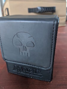 mtg leather deck box accessory