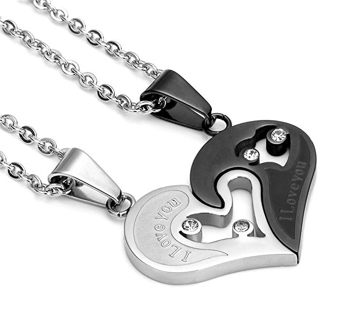 heart pendant with necklaces, his and hers anniversary