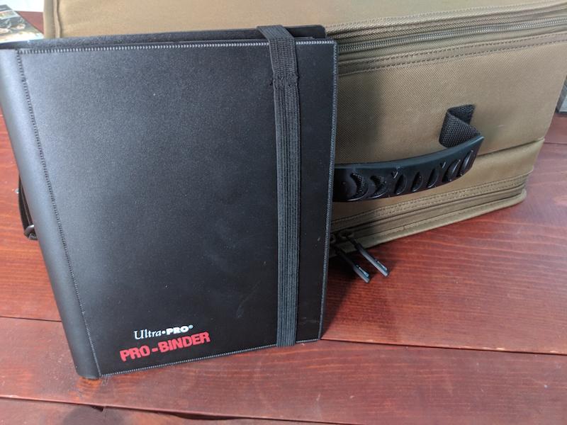 ultra pro four pocket binder closed