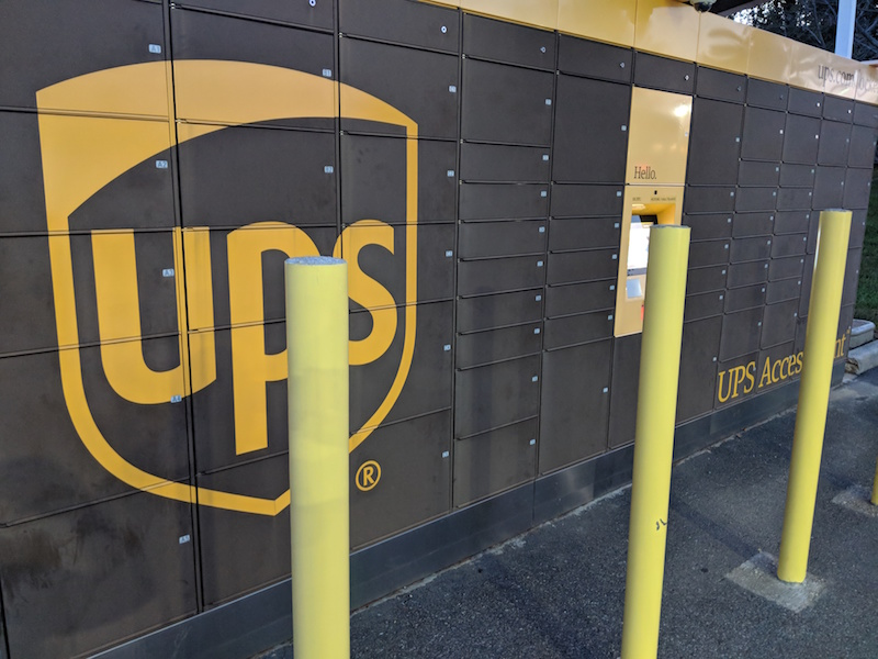 secure package delivery using delivery locker UPS