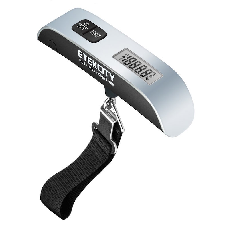 weigh your luggage with etekcity luggage scale