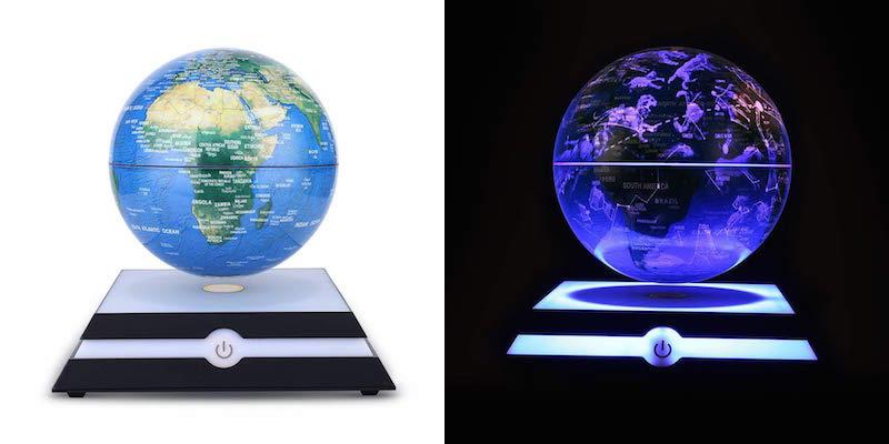 floating globe day/night modes