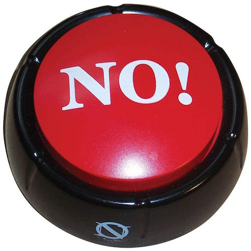 no button for corporate gift exchange