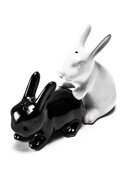 salt and pepper shaker rabbits getting busy gift