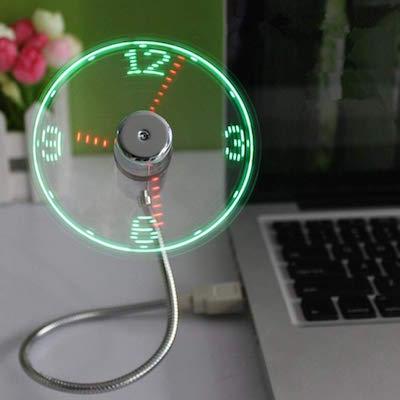 tech gadget usb clock fan