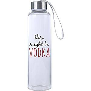 vodka water bottle funny saying gift