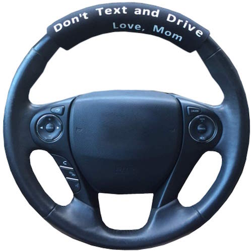 don't text and drive steering wheel cover
