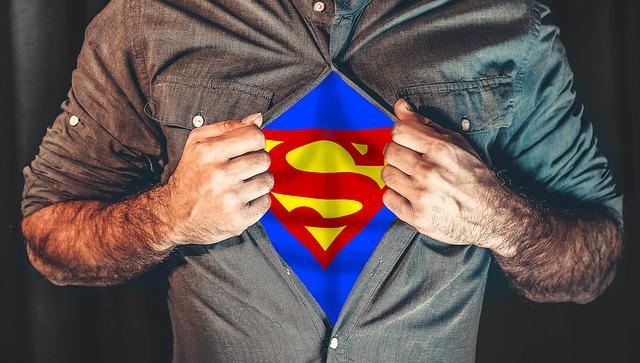 be a gentleman, like superman