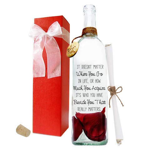message in a bottle Valentine's gift for her