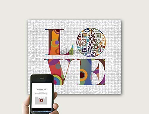 personalized print of your favorite love song in qr code