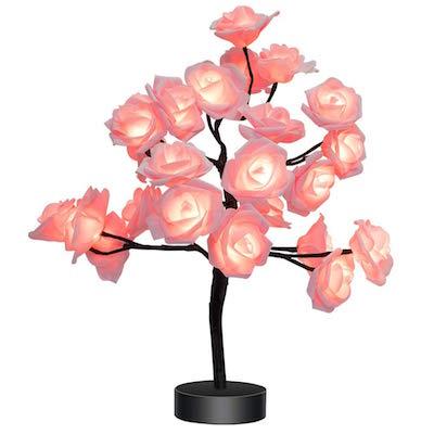 rose tree bedside lamp